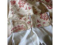 Laura Ashley triple pleat curtains
