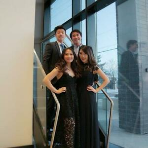 ELEGANT SLEEK LACE Dark Blue Long Prom Dress Size 1, 2..