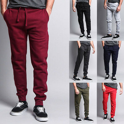 (Men's Premium Cotton Blend Workout Gym Fleece Sweatpants Joggers -HJ-CH ( J14G))