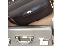 Traditional laptop bag and pilot case for sale - Job lot £5