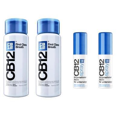 CB12 Spüllösung 2x250ml und CB12 Spray 2x15ml Kombiangebot