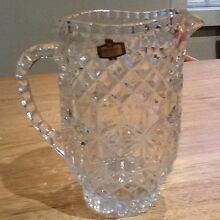 Crystal jug and bowls New Lambton Newcastle Area Preview