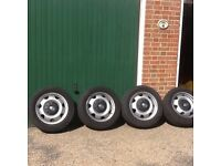 Original VW Shuttle Wheels with tyres and VW nut cover