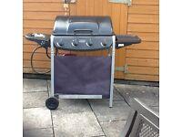 4 BURNER GAS BBQ WITH SIDE BURNER AND GAS BOTTLE