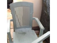 Free 2 green garden chairs