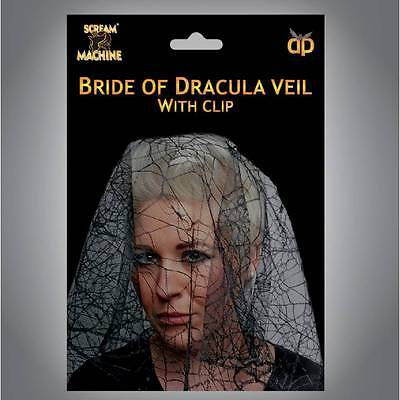 Halloween Bride of Dracula VEIL Zombie Ladies Fancy Dress - Bride Of Dracula Halloween Costumes