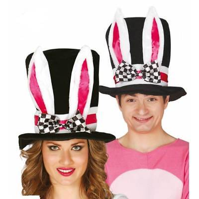 Deluxe Weiß Hase Zylinder Alice Mad Hatter Wunderland - Mad Hatter Kostüm Kinder