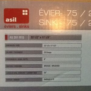 Asil stainless steel sink -Evier acier inoxidable