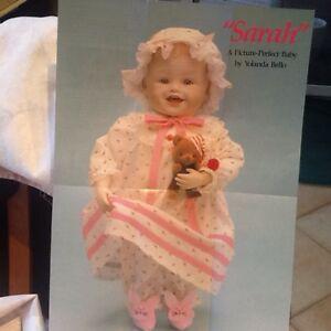Porcelain doll Sarah by Yolanda Bello