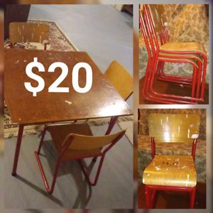 Vintage childs table and chair