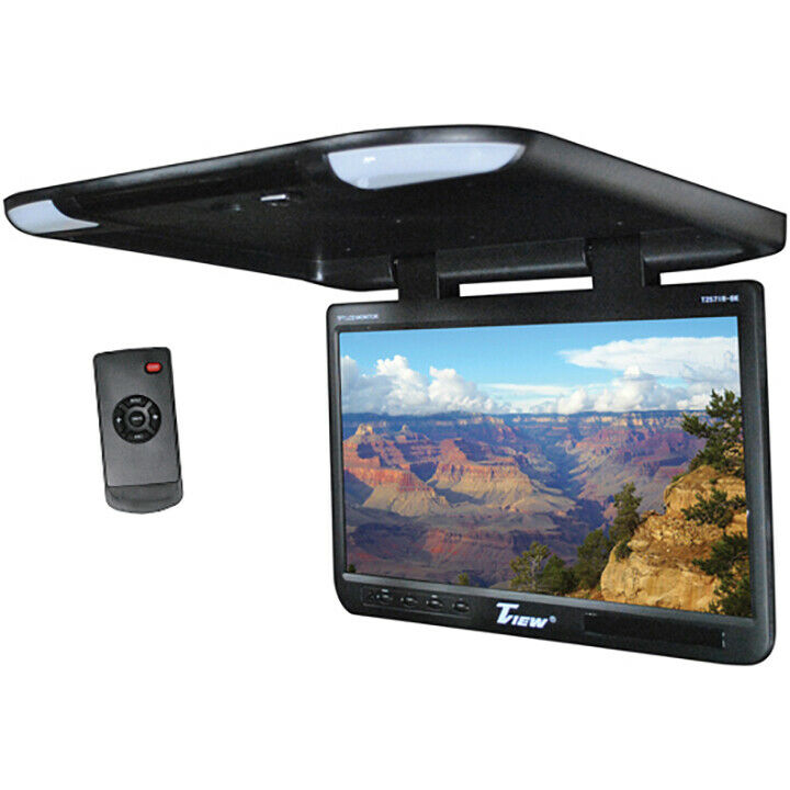 "TVIEW T257IR-BK Tview 25"" TFT Flipdown Monitor Built in IR Remote Light Black"