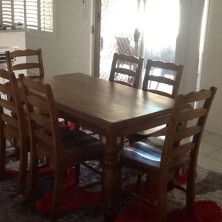 Dining room set, buffet and cube storage