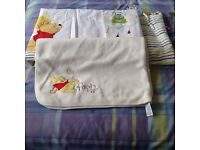 Cot bumper and soft fleecy blanket