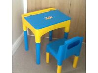 Childs Desk & Chair Age 3+
