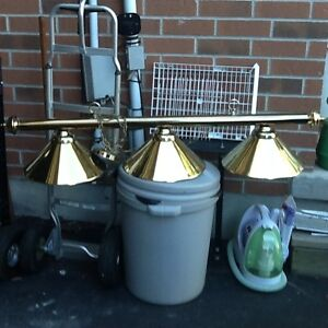 Solid brass pool lamp in excellent condition