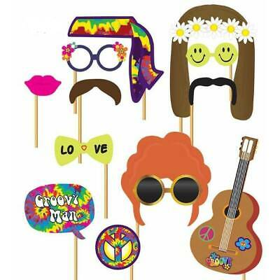12 x HIPPIE PHOTO BOOTH Props 60's Love Flower Power 1960 Fancy Dress](Hippie Photo Booth)