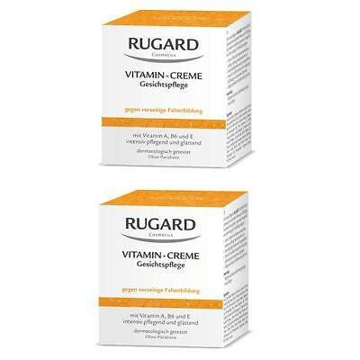RUGARD VITAMIN CREME 2x100ml Antifaltenpflege für trockene Gesichtshaut + PROBEN ()