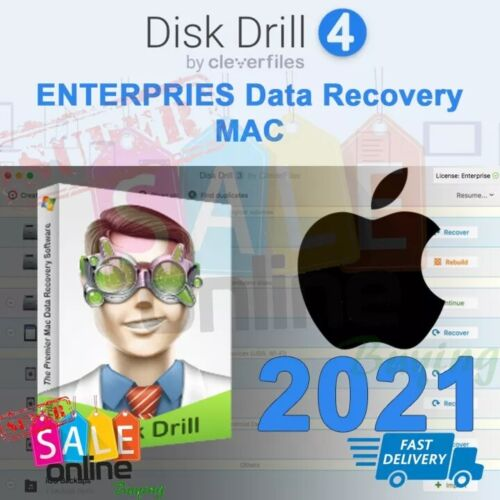 Disk Drill 4 Enterprise Data Recovery 2021 for MAC
