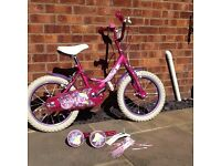 Girls 16 inch Miss Molly Raleigh bike