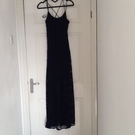 Navy blue full length dress - Size 10