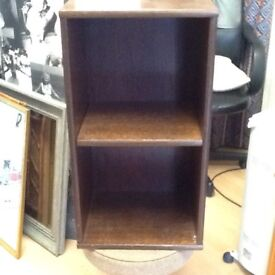 A pair of shelved cabinets.