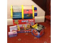 Rotastak Super Pod hamster cage with extras