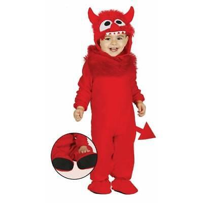 Toddler Boy Devil Halloween Costume (Baby Toddler Red Monster Devil Demon Kids Halloween Fancy Dress)
