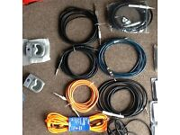 8 Guitars Leads including 3 Fender cables