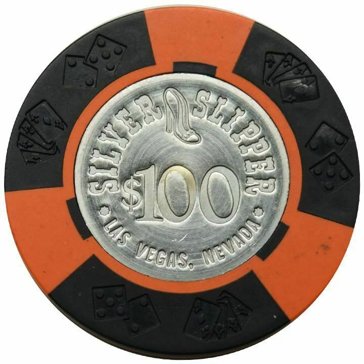 Silver Slipper Casino Las Vegas NV $100 Chip 1973