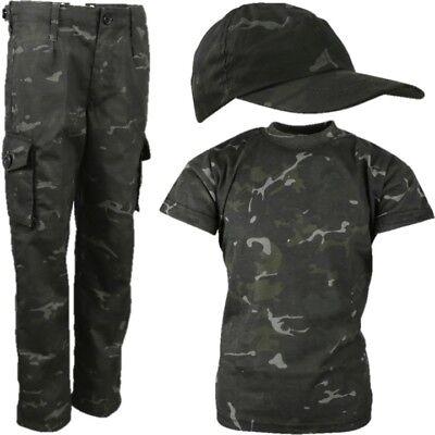 Armee Kinder Kostüme (Welttag des Buches Jungen Armee Soldat Kinderkostüme Hosen T-Shirt)