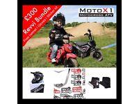 Kids electric dirt bike pocket bike MotoX1 Revvi 250w 12v mini moto 2018