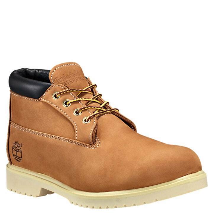 Men's Timberland Waterproof Chukka Nubuck Leather Boots Wheat 50061