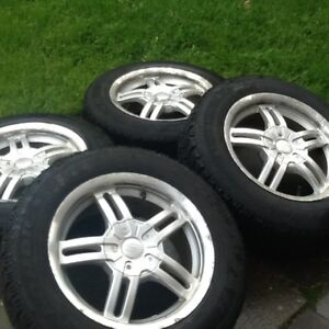Set of 4 alloy winter tires and rims