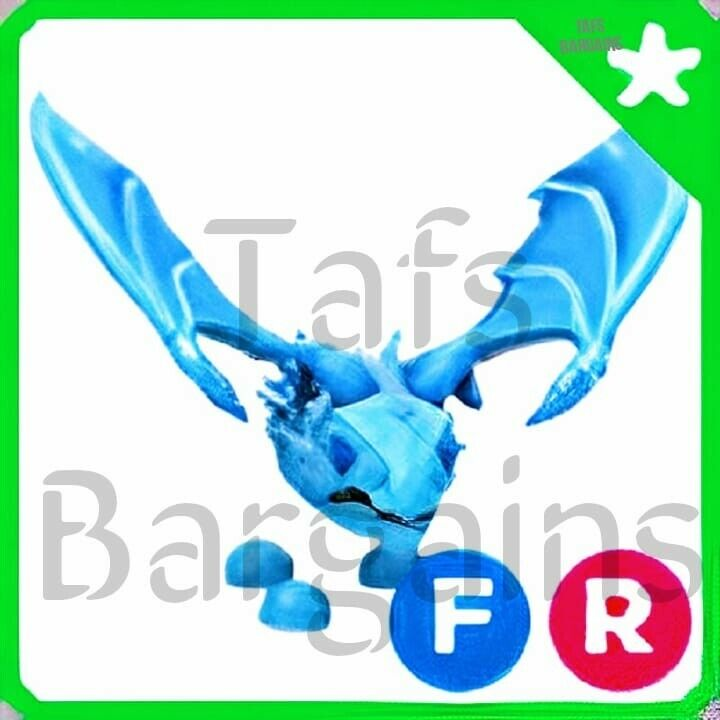 Roblox Adopt Me! Fly Ride Frost Dragon (FR) LEGENDARY PET