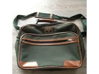 Antler green flight bag excellent condition 4 zipped compartments handle and shoulder strap