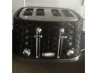 Morphy Richards Black 4 Slice Toaster