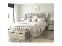 ⭕🛑⭕PRINCE BED⭕🛑⭕ BRAND NEW DOUBLE OR KING PRINCE CRUSH VELVET BEDS FOR SALE NOW-BIG PROMO SALE-