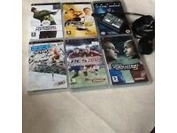 White slim and lite psp handheld with games and charger