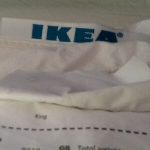 Almost NEW king size feather blanket (cover) - IKEA West Island Greater Montréal image 1