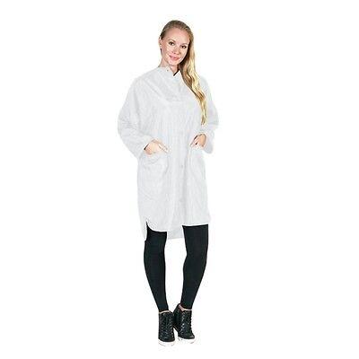 NEW Hair Stylist Big Shirt Nylon Jacket w/Pockets White Medium 999 by Betty Dain ()