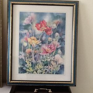 FRAMED FLORAL PRINT 18X23 Kitchener / Waterloo Kitchener Area image 1