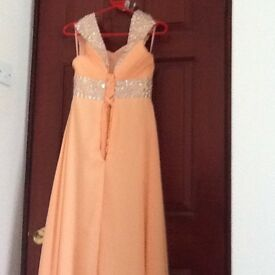 Brand new peach bridesmaid or prom dress