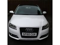 Audi A3 2.0 Sport Tdi 5-door manual, in white. Full panoramic roof, alloys, and electrics. F S H.