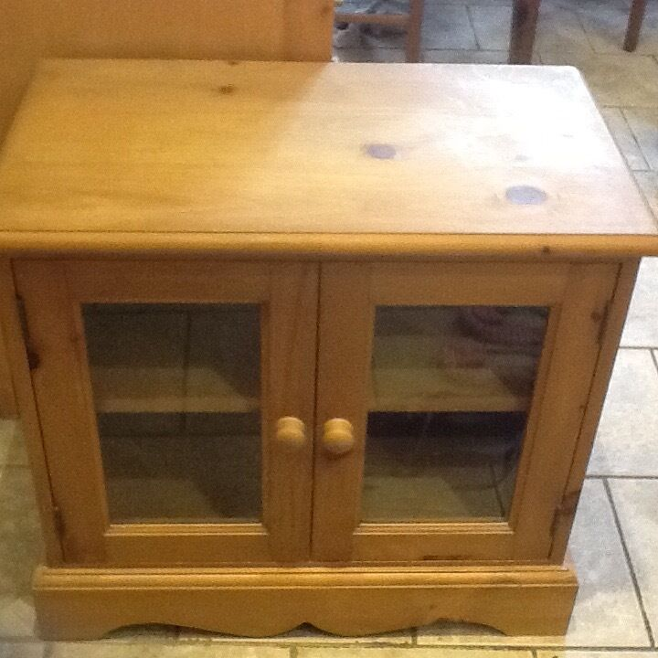 Pine TV cabinet - offers considered for quick sale