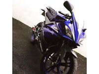Yamaha YZF-R125, great condition, expensive akrapovic exhaust