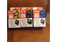 Ink cartridges for Lexmark l00xl 2 black 2 yellow 1 cyan