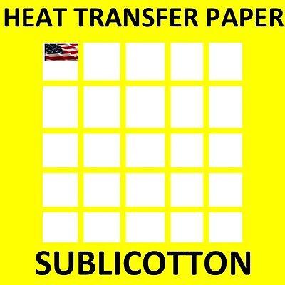 Papel Transfer Sublicotton 25 Pk 8.5x11 Sublimation Paper For Cotton Algodon