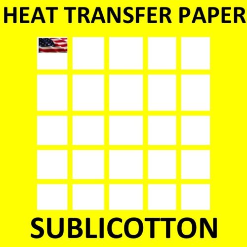"SUBLICOTTON TRANSFER PAPER  50  Sh PK 8.5""X11"" Sublimation paper for Cotton #1"