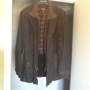 Danier mens leather coat
