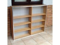 IKEA oak finish shelf units